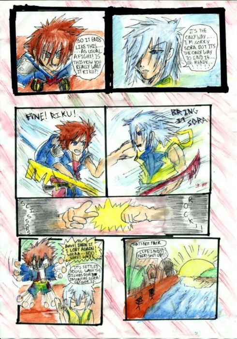 Sora And Riku's Fight!