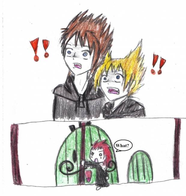 Scary moment for Axel, Demyx and Roxas