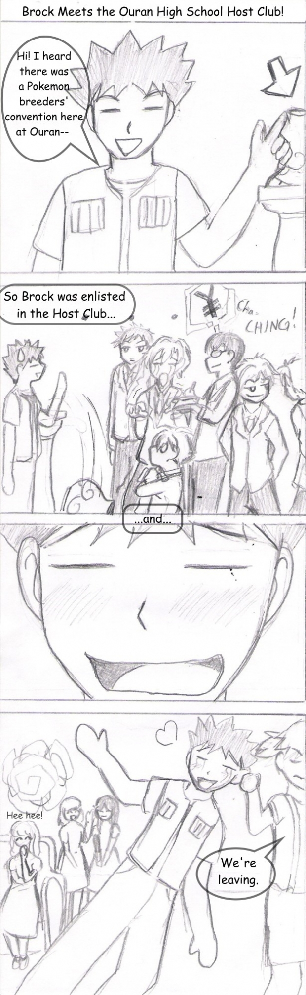 Brock Meets the Ouran High School Host Club!