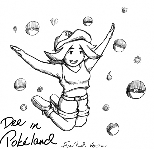 Dee in Pokeland: FireRed Version