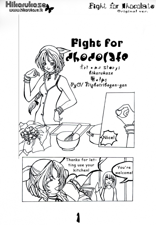 Fight for chocolate