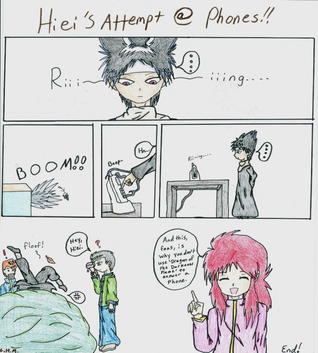 Yu Yu One Shot: Hiei's Attempt at phones!