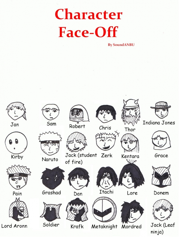 character face-off
