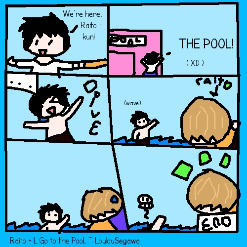 Raito/Light and L Go To the Pool