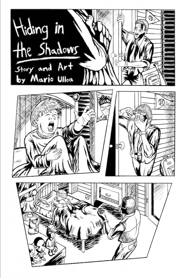 Hiding in the Shadows inked preview