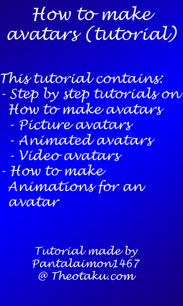 How to make avatars tutorial