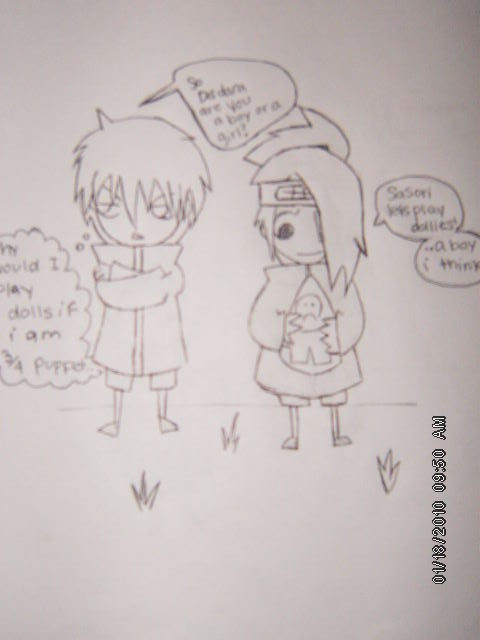 A Sasori and Deidara moment