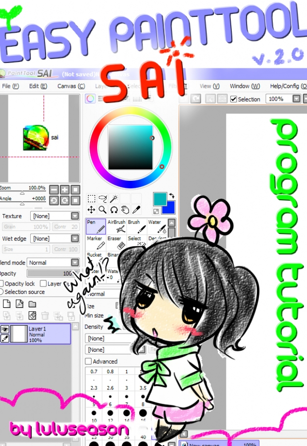 PAINT TOOL SAI PROGRAM TUTORIAL [ver2.0]