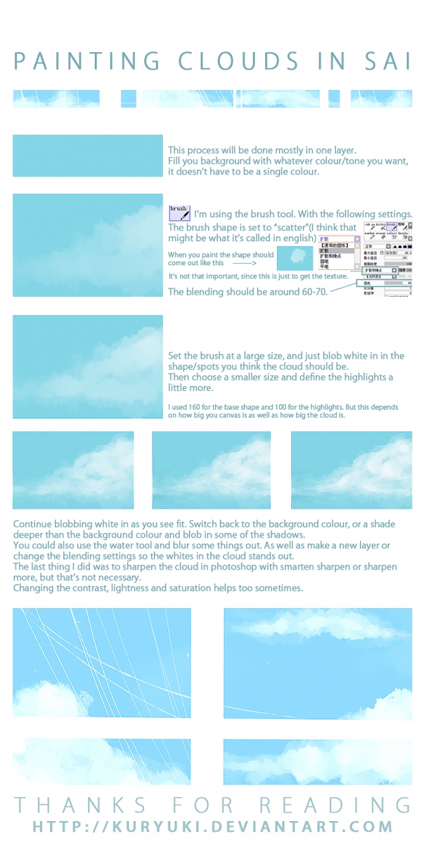 Cloud Painting Tutorial in SAI