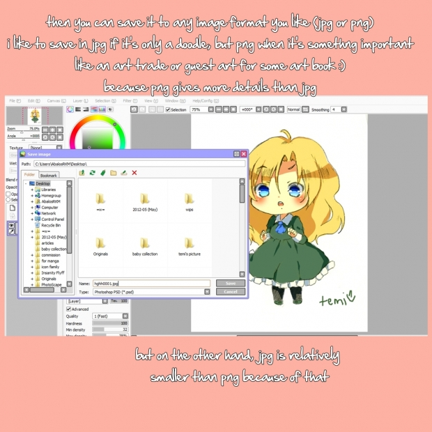 how to digitally color a sketch (with a mouse)