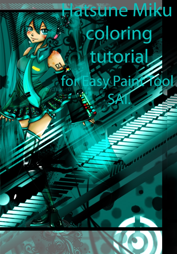 Miku coloring tutorial