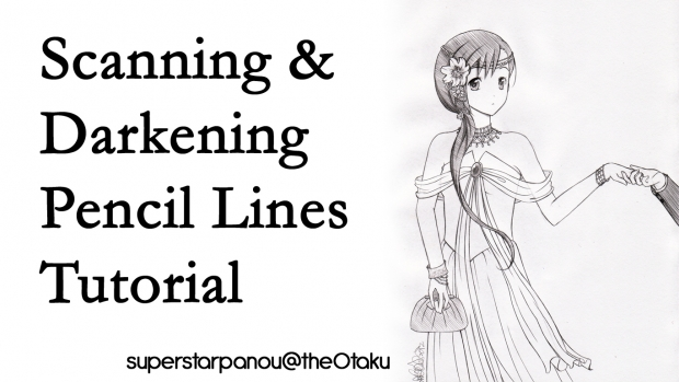 Scanning & Darkening Pencil Lines Tutorial
