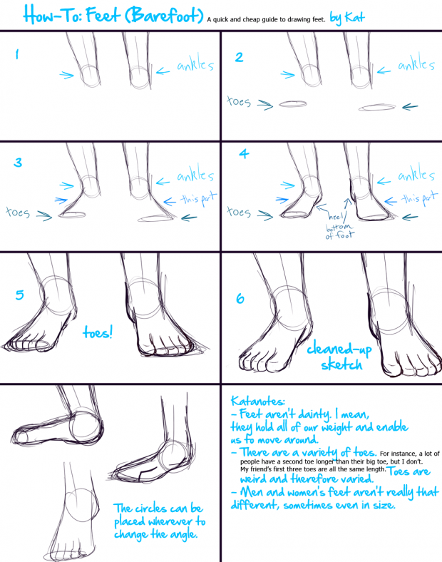 How-To: Feet (Barefoot)